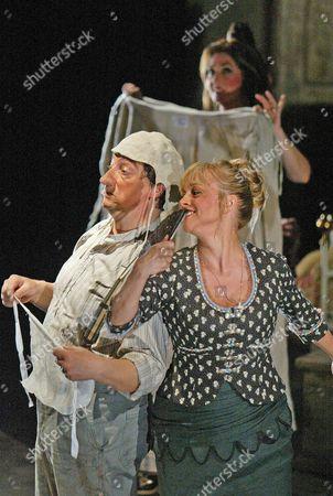 'Gianni Schicchi' opera at Glyndebourne - Alessandro Corbelli (Gianni) and Olga Schalaewa (Nella)