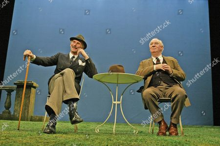 'Home' play - Oxford Stage Company - Christopher Godwin (Jack) and David Calder (Harry)