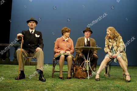 'Home' play - Oxford Stage Company - Christopher Godwin (Jack), Sandra Voe (Majorie), David Calder (Harry) and Geraldine James (Kathleen)
