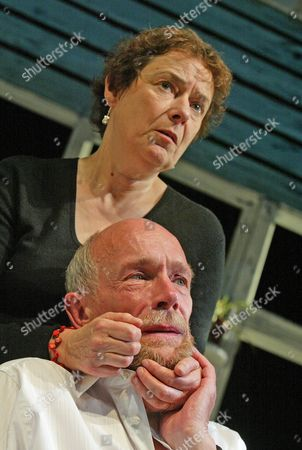 'Love Me Tonight' play at The Hampstead Theatre - Linda Bassett (Moira) and Hugh Ross (Roy)