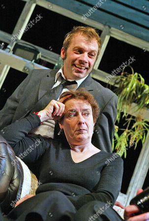 'Love Me Tonight' play at The Hampstead Theatre - Linda Bassett (Moira) and Nicolas Tennant (Stuart)