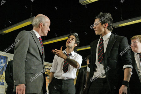 'The History Boys' play at the Lyttelton Theatre - Clive Merrison, Sacha Dhawan and Dominic Cooper