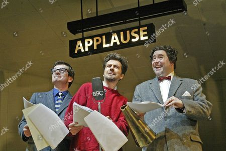 'Ying Tong' play at the West Yorkshire Playhouse - Peter Temple (Peter Sellers), James Clyde (Spike Milligan) and Christian Patterson (Harry Secombe)