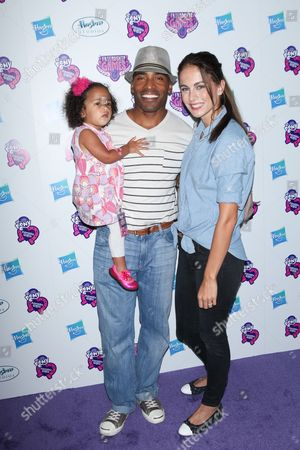 Tiki Barber, Traci Lynn Johnson and daughter Brooklyn