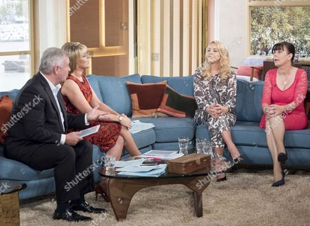 Eamonn Holmes and Ruth Langsford with Lydia Bright and Alley Einstein