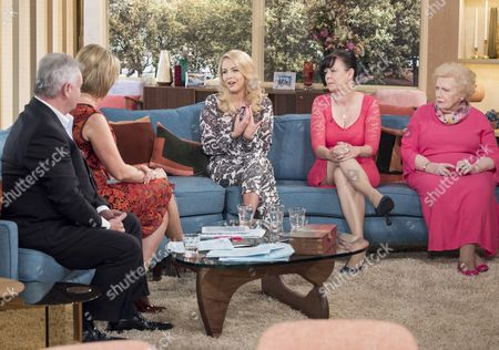 Eamonn Holmes and Ruth Langsford with Lydia Bright, Alley Einstein and Denise Robertson