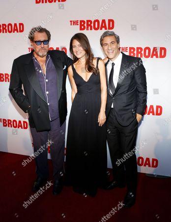 Julian Schnabel, Katherine Ross, and Michael Govan