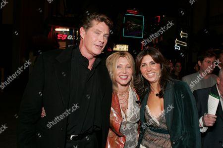 David Hasselhoff, Wife Pamela and Producer Nathalie Marciano
