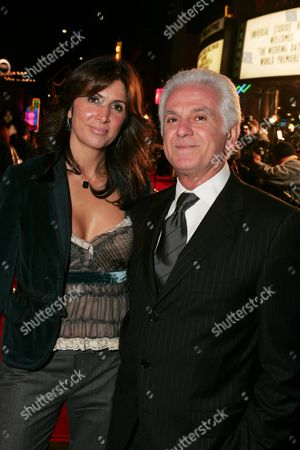 Stock Photo of Nathalie Marciano and Fashion Designer Maurice Marciano