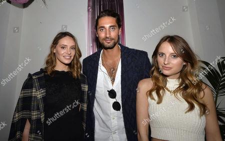 (L-R): Natalie Joel, Hugo Taylor and Rosie Fortescue