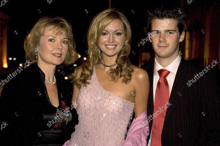 Stock Picture of Diane DeBurgh with daughter Rosanna Davison and her boyfriend James
