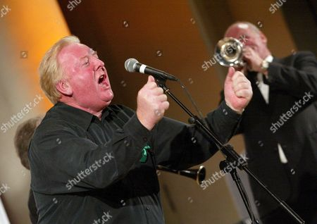 Ken Purchase MP with Lord Colwyn on trumpet
