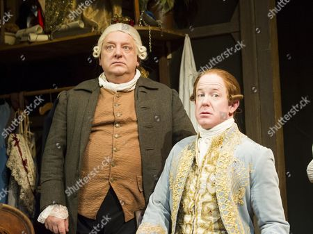 Editorial image of 'Mr Foote's Other Leg' Play performed at Hampstead Theatre, London, UK, 18 Sep 2015
