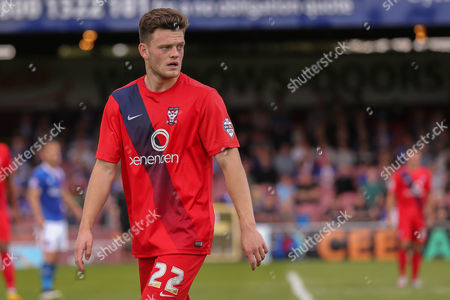 York City forward Reece Thompson during the Sky Bet League 2 match between York City and Carlisle United at Bootham Crescent, York