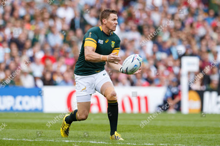 Jean de Villiers during the Rugby World Cup 2015 match between South Africa and Japan played at Brighton Community Stadium.