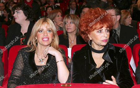 Alessandra Mussolini and her mother Maria Scicolone