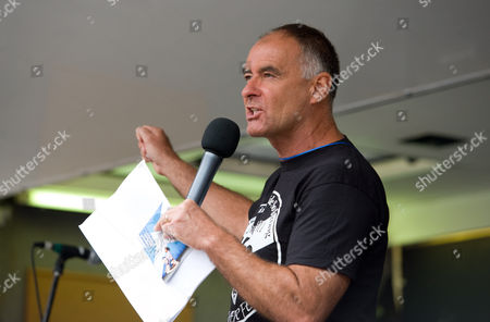 Stock Image of Tommy Sheridan addresses the rally