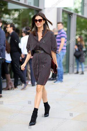 Editorial photo of Street Style, Spring Summer 2016, London Fashion Week, Britain - 19 Sep 2015