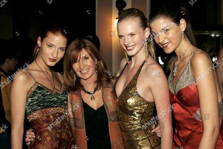 Stock Image of Nicole Miller with models Anne V, Aleksandra and Linda V