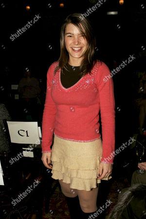 Juliette Longuet wearing her own designs