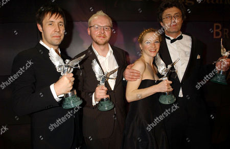 Stock Image of Paddy Considine, Simon Pegg, Nathalie Press and unknown