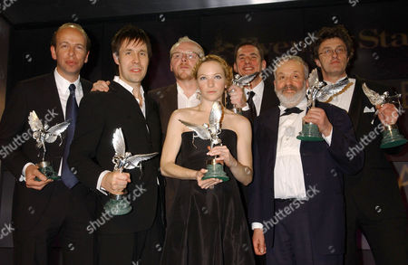 Eric Fellner, Paddy Considine, Simon Pegg, Nathalie Press, unknown, Mike Leigh and unknown