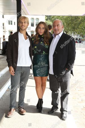 Brandon Green, Chloe Green and Sir Philip Green