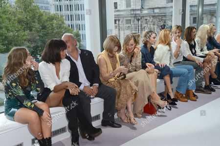 Chloe Green, Ciara, Sir Philip Green, Anna Wintour, Suki Waterhouse, Cressida Bonas, Alexa Chung, Bella Thorne, Brandon Green, Natalie Massenet, Poppy Delevingne and Martha Ward