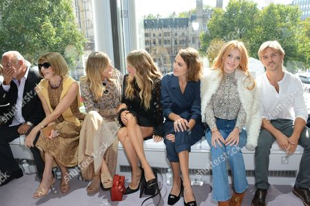 Sir Philip Green, Anna Wintour, Suki Waterhouse, Cressida Bonas, Alexa Chung, Bella Thorne and Brandon Green