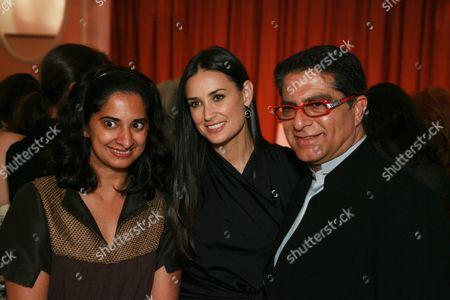 Mallika Chopra, Demi Moore and Deepak Chopra
