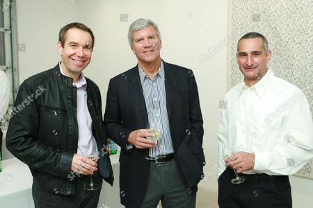 Jeff Koons, Larry Gagosian and Christopher Wool