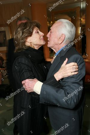 Veronique Peck and Kirk Douglas