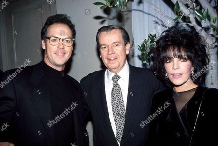 Michael Keaton, Robert Daly, Carole Bayer Sager