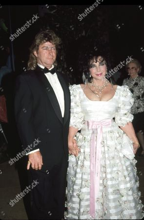Stock Image of Larry Fortensky and Elizabeth Taylor