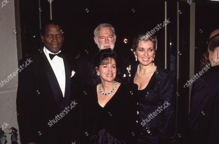 Sidney Poitier, Leonard Goldberg, Wendy Goldberg, Donna Poitier