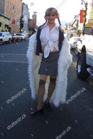 "Robert Stephens promoting the film ""Britney Baby...One More Time"" on Main Street at the 2002 Sundance Film Festival on January 16, 2002.  Park City, UT  Photo® Matt Baron/BEI"