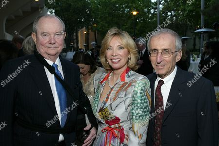 Stock Picture of Jerry Perenchio, Margie Perenchio & Dr. Gerald Levey