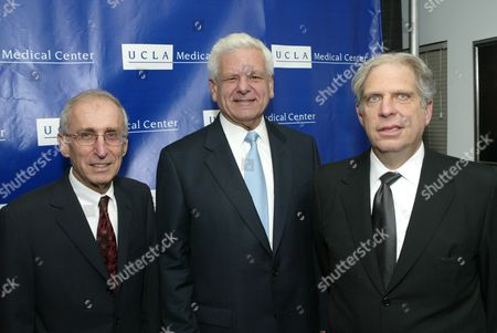 Stock Image of Dr. Gerald Levey, Albert Carnesale and Jonathan