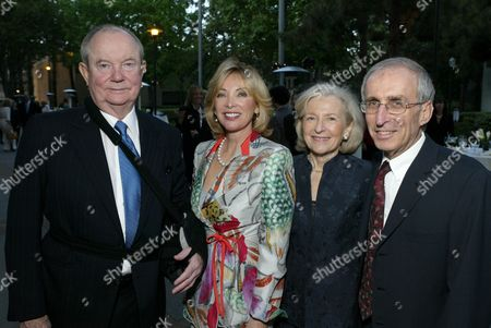 Stock Photo of Jerry Perenchio, Margie Perenchio & Dr. Gerald Levey