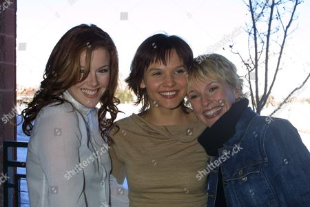 "Cast members Kathleen Robertson (left), Maya Stange (mid), Petra Wright (right) and at the premiere of their film ""XX/XY"" as part of the 2002 Sundance Film Festival in Park City, Utah on January 11, 2002.