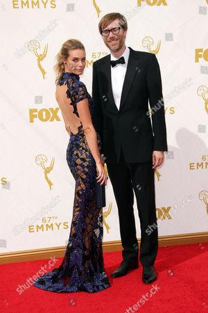 Stephen Merchant and Christine Marzano