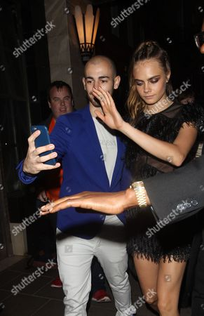 Cara Delevingne with fan