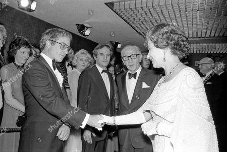 Richard Dreyfuss with Queen Elizabeth II as Francois Truffaut (c,l ) looks on