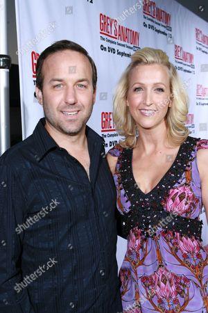 Stock Image of David Haffenreffer and Lara Spencer