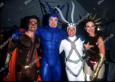 "05/18/00 New York City FOX TV presents their Fall 2000 line-up. The cast of ""The Tick"": Nestor Carbonell, Patrick Warburton, David Burke & Liz Vassey. Photo by ®Evan Agostini / BEI BEI-AE"