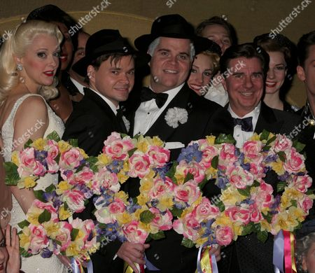 Stock Image of Angie Schworer, Hunter Foster, John Treacy Egan, Gary Beach