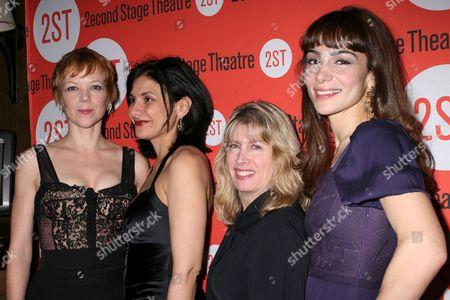 Emily Bergl, Playwrite Gina Gionfriddo, Carole Rothman, Annie Parisse