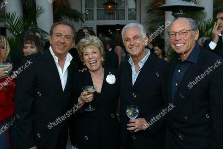 Paul Marciano, Margo Winkler, Maurice Marciano and Irwin Winkler