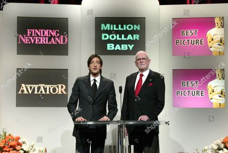 Adrien Brody and Frank Pierson
