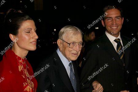 Kerri Caviezel, John Wooden and Jim Caviezel